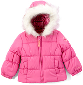 London Fog Pink Puffer Coat - Infant, Toddler & Girls