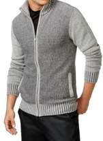 GUESS Heather Gray Mens Size Small S Ribbed Full Zip Sweater