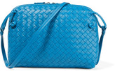 Bottega Veneta Messenger Small Intrecciato Leather Shoulder Bag - Blue