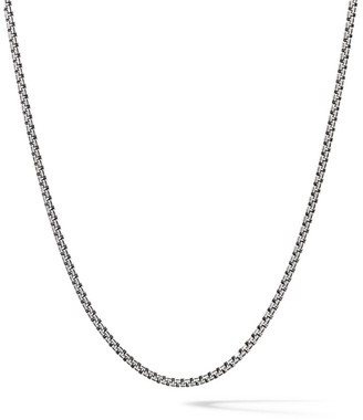 David Yurman The Chain Collection Sterling Silver Small Double Box Chain Necklace