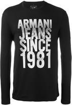Armani Jeans 'Since 1981' print sweatshirt