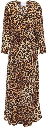 We Are Leone Leopard-print Silk Crepe De Chine Maxi Wrap Dress