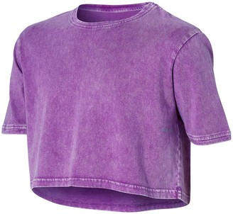 Ell & Voo Girls Rocky Cropped Tee Purple 14