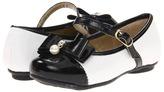 Pampili 10200 (Toddler/Little Kid/Big Kid) (White/Black) - Footwear