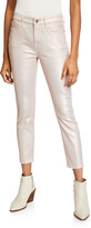 7 For All Mankind Jen7 By Metallic Coated Ankle Skinny Jeans