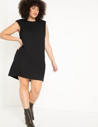 ELOQUII Drama Shoulder Sweatshirt Dress