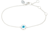 Meira T 14K White Gold & 0.02 Total Ct. Diamond Evil Eye Bracelet