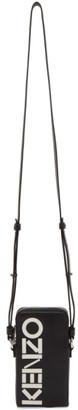 Kenzo Black Kontrast Zip Phone Bag