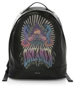 Paul Smith Dreamer Printed Leather Backpack
