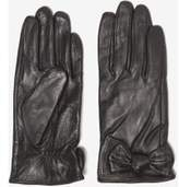 Dorothy Perkins Womens Black Leather Knot Gloves- Black