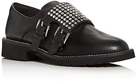 Kurt Geiger Women's Seth Embellished Double Monk-Strap Loafers