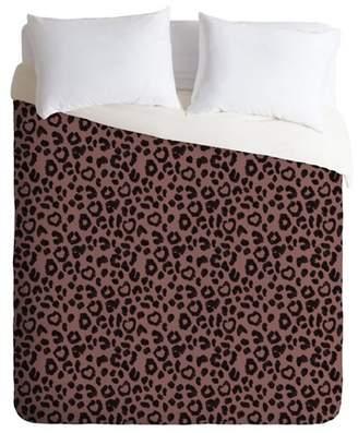 Deny Designs Dash and Ash Leopard Print Comforter Set