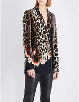 Haider Ackermann Leopard-patterned velvet blazer