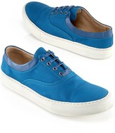 Opening Ceremony Leather-Trim Sneaker, Teal