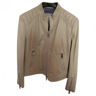 HUGO BOSS Beige Leather Leather Jacket for Women