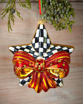 Mackenzie Childs MacKenzie-Childs Ribboned Star Christmas Ornament
