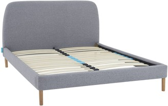 Simba Hybrid Upholstered Bed Frame with Headboard, King Size, Grey