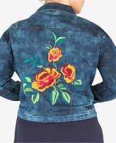 Standards and Practices Trendy Plus Size Denim Jacket