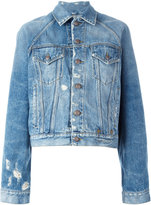 R 13 Brunel denim jacket - women - Cotton/Spandex/Elastane - M