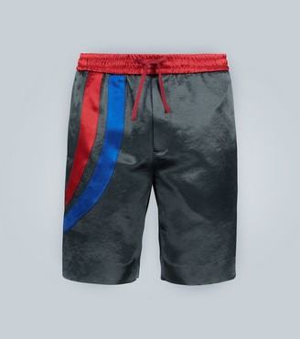 Gucci Mid-length shorts with bands