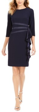 R & M Richards Ruffled Sheath Dress