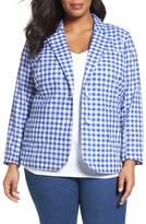 Foxcroft Plus Size Women's Gingham Blazer
