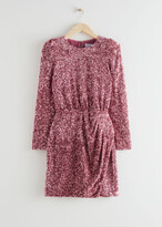 Thumbnail for your product : And other stories Padded Shoulder Sequin Dress