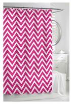 Kassatex Chevron Shower Curtain - Pinkberry/White