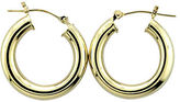 Lord & Taylor 14K. Yellow Gold Polished Hoop Earrings