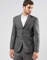 Asos Skinny Blazer In Tweed