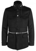 Alexander Mcqueen Black Wool And Cashmere Blend Jacket