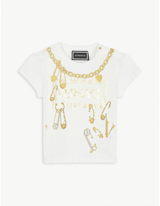 Versace Logo print cotton T-shirt 3-36 months