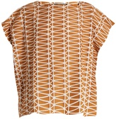 Issey Miyake Facet geometric bonded-appliqué top