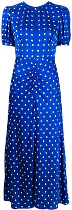 Self-Portrait Polka Dot Print Mid Dress