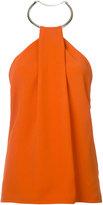 Thierry Mugler halterneck blouse - women - Spandex/Elastane/Acetate/Viscose/Brass - 38
