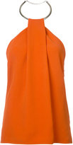 Thierry Mugler halterneck blouse - women - Spandex/Elastane/Acetate/Viscose/Brass - 40