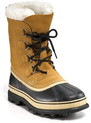Sorel Men's Caribou Waterproof Nubuck Leather Cold-Weather Boots