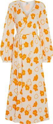 Baum und Pferdgarten Jonna Floral-print Cotton And Modal-blend Jersey Maxi Wrap Dress