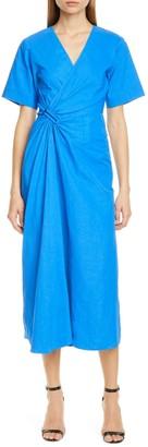 A.L.C. Edie Faux Wrap Midi Dress