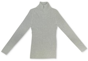 Style&Co. Style & Co Petite Metallic Turtleneck Sweater, Created for Macy's