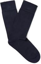 John Smedley - Eros Sea Island Cotton-blend Socks