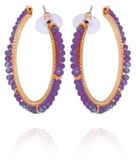 Nanette Lepore Winter Garden Beaded C-Hoop Earring