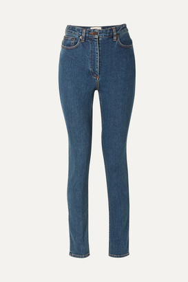 The Row Kate High-rise Skinny Jeans - Blue