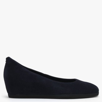 Högl Cathy II Navy Suede Wedge Court Shoes