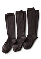 Classic Women's Seamless Toe Solid Cotton Blend Trouser Socks (3-pack)-Spice Brown