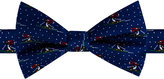 Tommy Hilfiger Men's Skiing Penguin Print Pre-Tied Bow Tie
