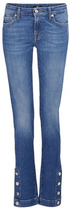 7 For All Mankind Pyper jeans with a snap-button hem