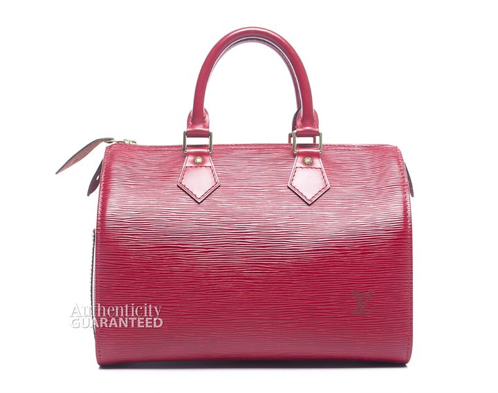 Louis Vuitton Pre-Owned Carmine Red Epi Leather Speedy 25 Bag