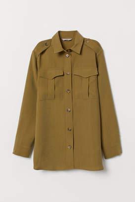H&M Lyocell-blend Utility Shirt - Green