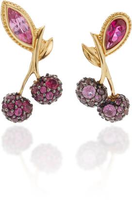 Anabela Chan Cherry 18K Gold Vermeil Ruby Sapphire Earrings